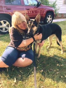 Gina with Sadie now in Ohio